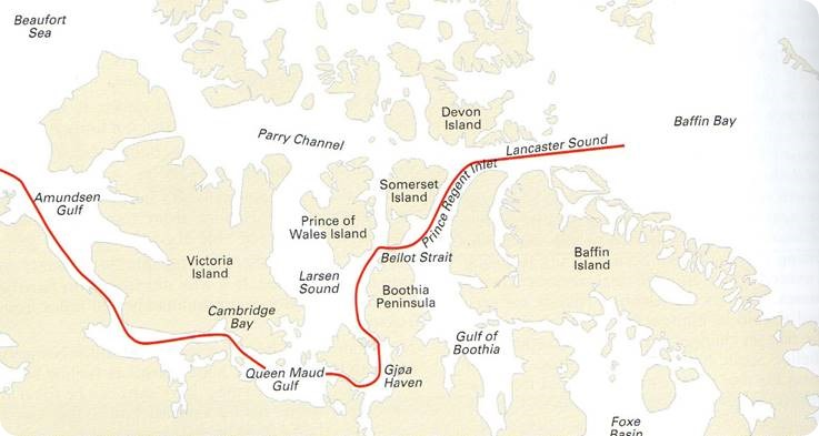 Northwest Passage route
